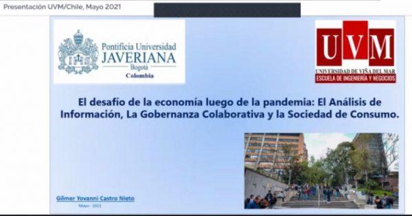 Escuela de Ingeniería y Negocios UVM inauguró año con conferencia sobre la economía y la pandemia