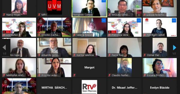 UVM firma convenio marco de cooperación académica, científica y cultural con universidad peruana