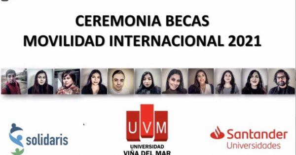 UVM realizó acto de entrega Becas Santander y Solidaris 2021