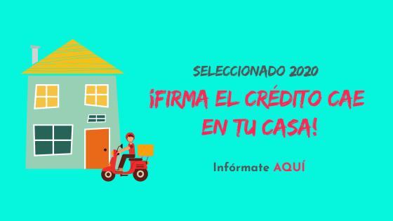 Proceso de Firma de Contrato CAE de Licitados 2020