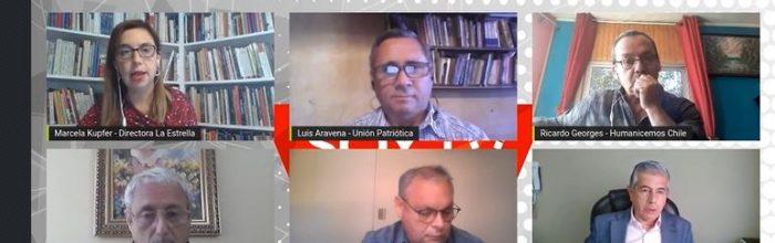 Candidatos a gobernador por la Región de Valparaíso realizan conversatorio de cara a las próximas elecciones