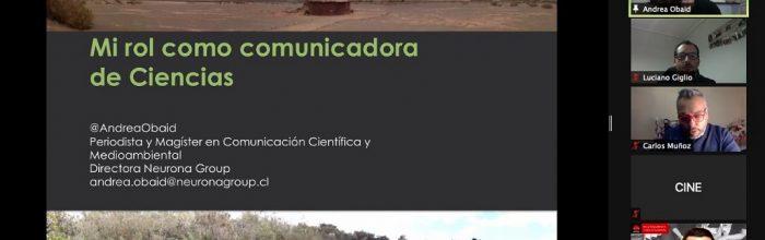Destacada periodista y divulgadora científica participó en webinar de liderazgo UVM
