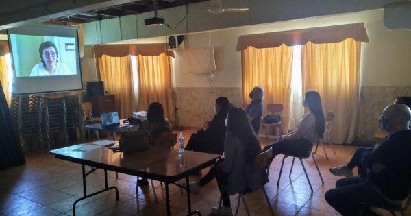 Trabajo Social realiza charla sobre salud comunitaria en Santa Inés