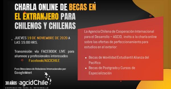 Participa de la charla para aplicar a becas en el extranjero