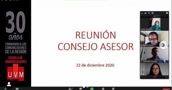 Escuela de Comunicaciones UVM se reúne con Consejo Asesor 2020