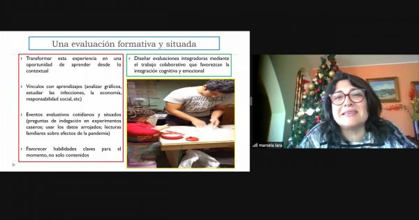 Dra. Marcela Lara expone en conversatorio sobre la experiencia de la evaluación en pandemia