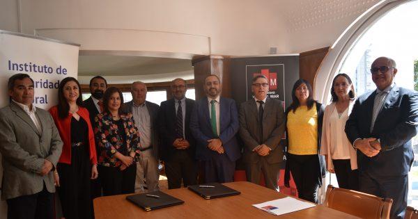 UVM firma convenio de colaboración con el Instituto de Seguridad Laboral