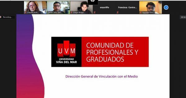 Estudiantes de Relaciones Públicas se reúnen con Comunidad de Profesionales UVM