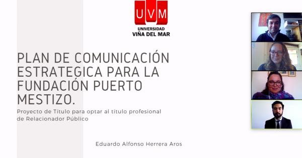 Estudiante de Relaciones Públicas rinde Examen de Título en formato online
