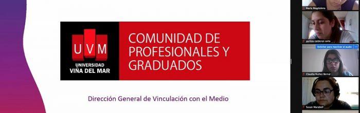 Carrera Pedagogía en Educación Diferencial UVM recibió charla de la Comunidad de Profesionales y Graduados