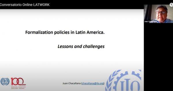 Continúan los conversatorios sobre informalidad laboral en el marco del Proyecto LATWORK