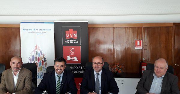 UVM y Esval sellan convenio para fortalecer espacios de inclusión social