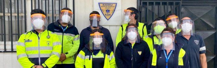 UVM entrega escudos faciales al SAMU de Quillota