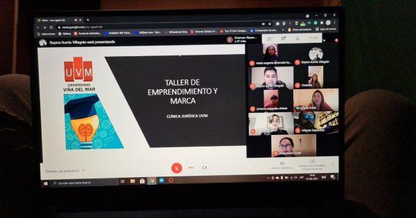 """Carrera de Derecho UVM y Asociación Yo Cuido organizaron taller """"Emprendimiento y Marca"""""""