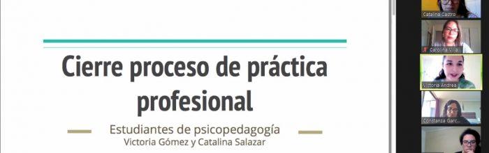 Con éxito culmina proceso de práctica de Psicopedagogía diurno