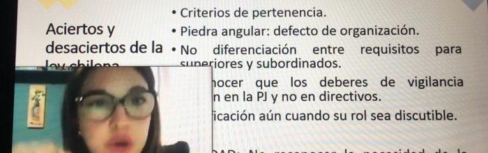 """Docente de Derecho UVM expuso en """"Cuartas Jornadas de Mujeres Penalistas y Criminólogas"""""""