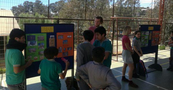 Estudiantes internacionales de la UVM ayudan en la enseñanza del inglés en la Escuela Básica Paul Harris