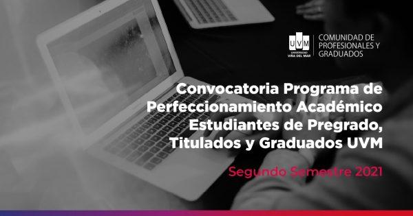 UVM invita a inscribirse en Programas de Perfeccionamiento 2° semestre 2021