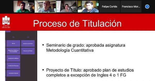 Carrera Relaciones Públicas UVM realiza reunión de proceso de titulación y práctica profesional