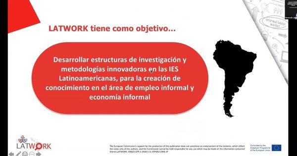 Proyecto Latwork efectúa encuentro online sobre informalidad laboral