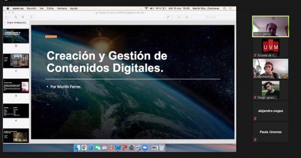 Escuela de Comunicaciones UVM realizó 2° taller de creación y gestión de contenidos digitales