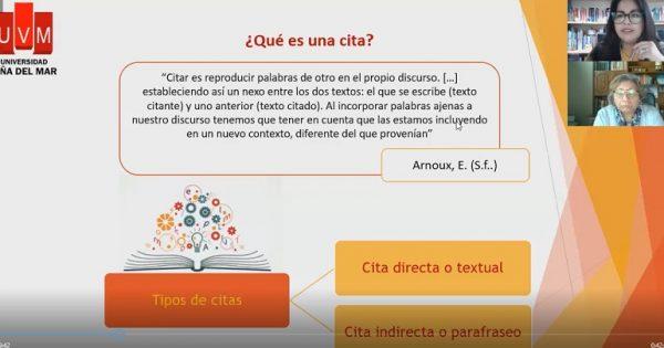 Carrera de Educación Parvularia UVM organizó taller sobre utilización de Norma APA