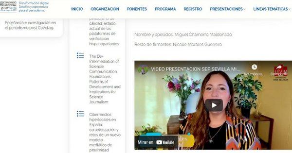Titulada de periodismo UVM expone en congreso internacional en Sevilla