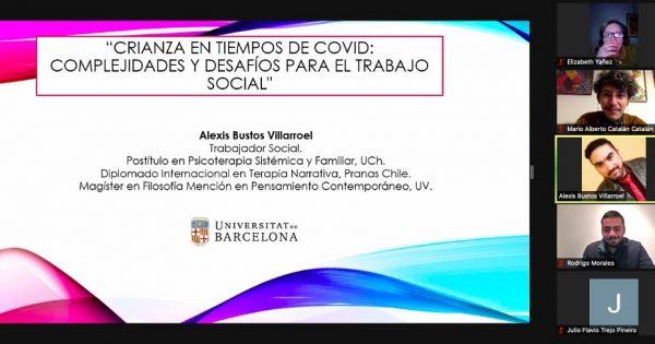 UVM realizó conversatorio sobre trabajo terapéutico con adultos en contextos actuales