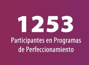 1253 Participantes en Programas de Perfeccionamiento