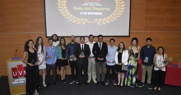 Deportistas UVM fueron reconocidos en tradicional Gala del Deporte