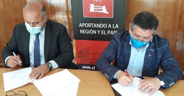 UVM firma convenio con Codelco División Ventanas