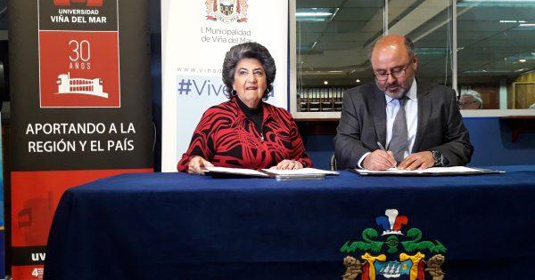 UVM y municipio de Viña del Mar firman convenio de colaboración