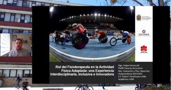 Docente de la carrera de Kinesiología expone en I Seminario Internacional de Actividad Física Adaptada y Deporte Paralímpico