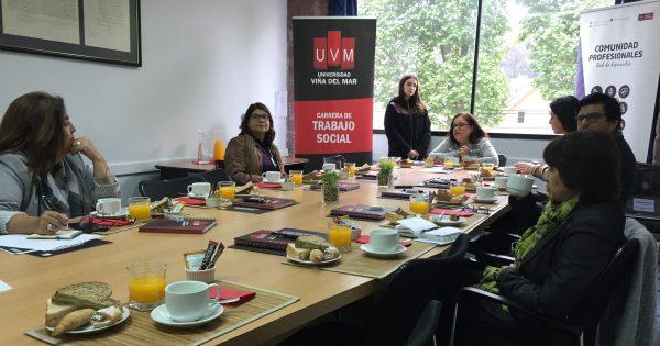 En UVM se reúnen empleadores de titulados de Trabajo Social