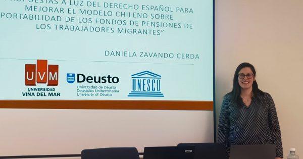 Académica UVM presenta ante comisión de Cátedra UNESCO de institución española