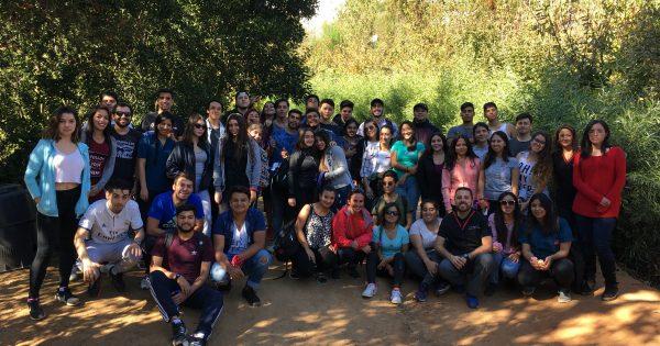 Estudiantes de primer año de Kinesiología fueron apadrinamos por sus compañeros