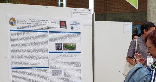 Académica del Departamento de Ciencias Básicas UVM participa en Congreso Agronómico de Chile