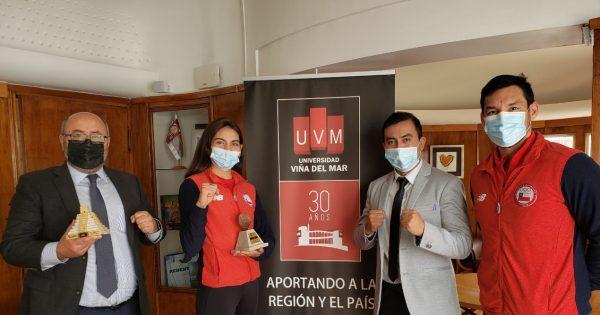 Rector UVM se reúne con Fernanda Aguirre tras su participación en Panamericano de Taekwondo