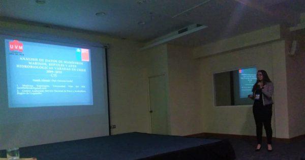 Estudiante de Medicina Veterinaria participa en XXIX Congreso de Ciencias del Mar